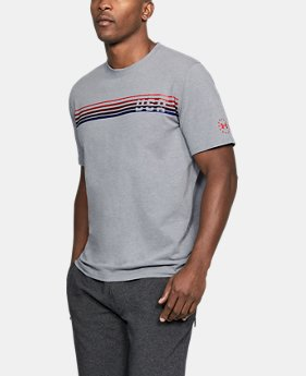 Men's UA Freedom Chest Lines T-Shirt  1 Color $25