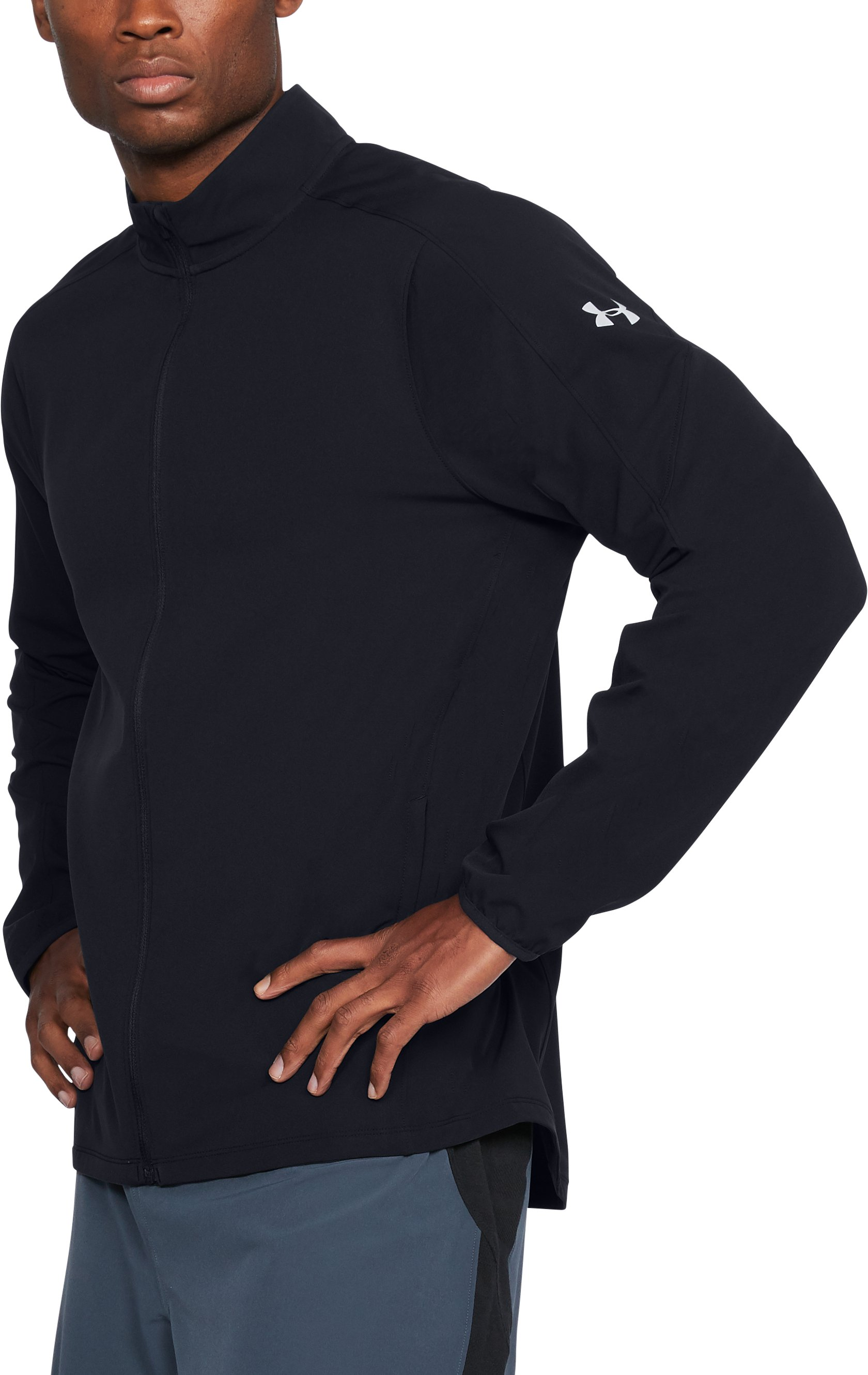 Men's UA Storm Out & Back Jacket, Black , undefined