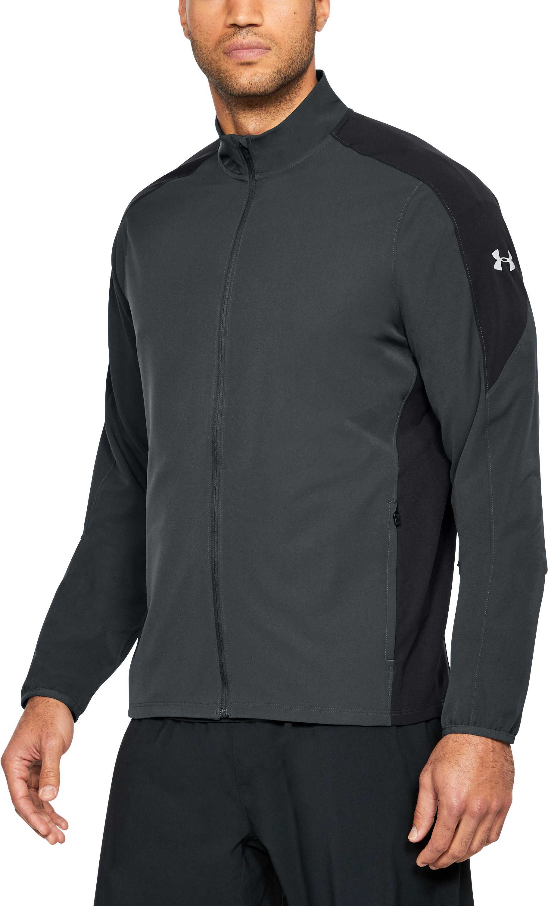 Men's UA Storm Launch Jacket, ANTHRACITE