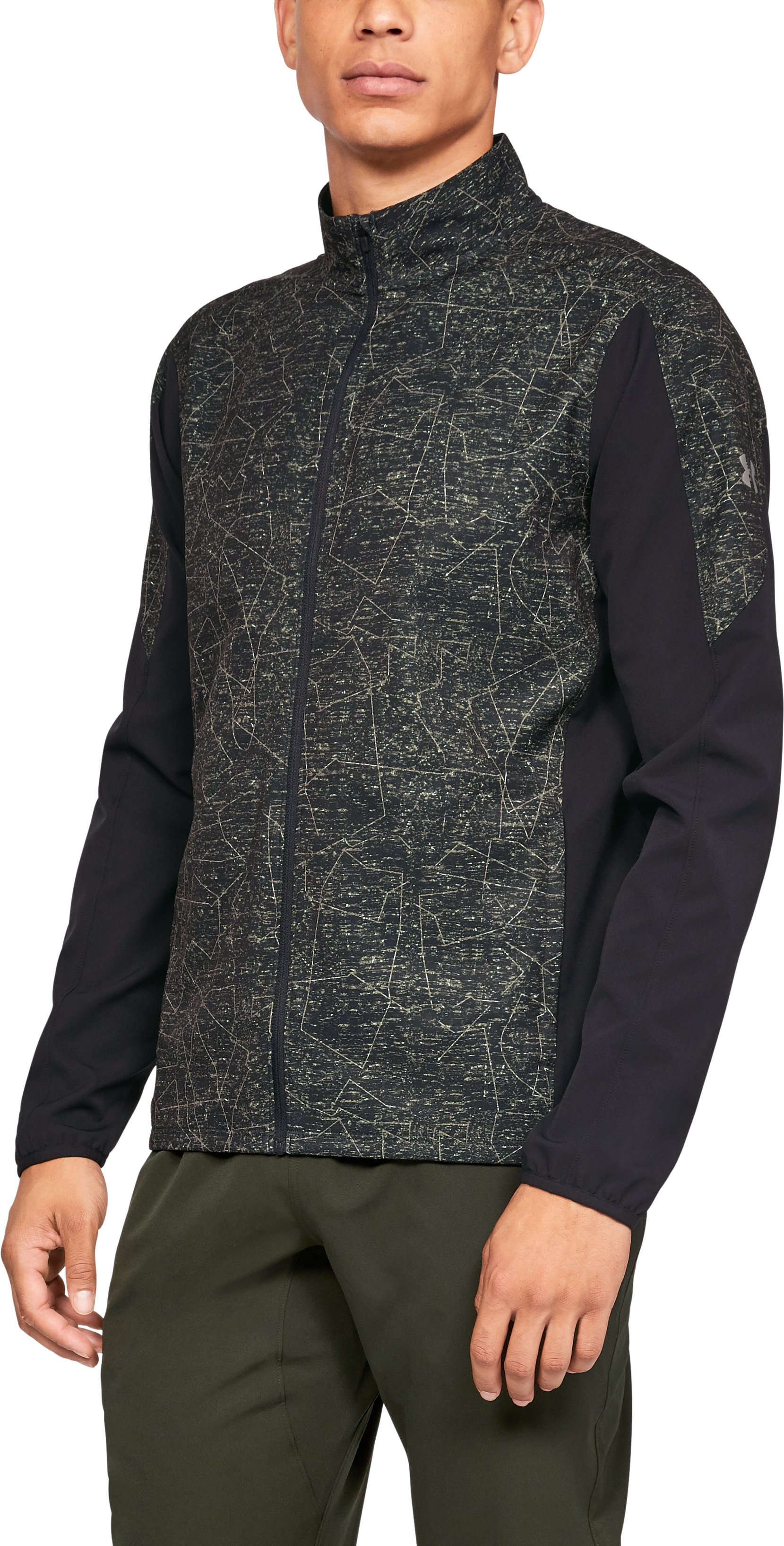 Men's UA Storm Launch Printed Jacket, Black ,
