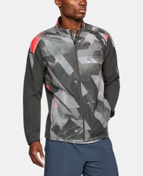 New Arrival Men's UA Storm Out & Back Printed Jacket  1 Color $85