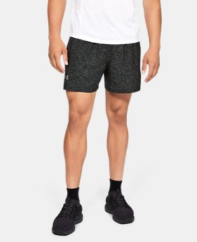 "Men's UA Launch SW 5"" Printed Shorts  1  Color Available $40"