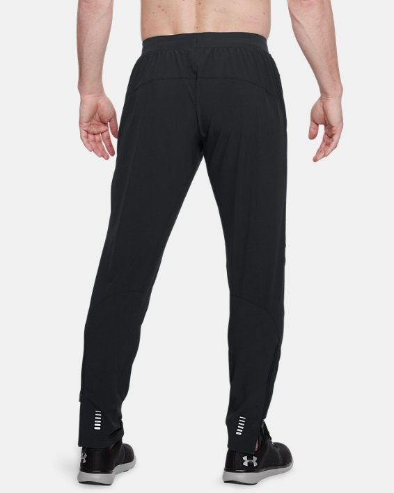 Men's UA Outrun The Storm Pants, Black, pdpMainDesktop image number 2