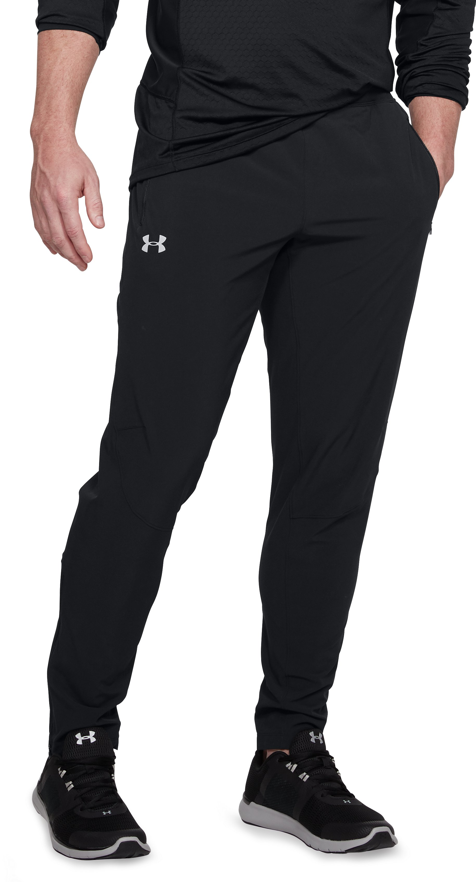 Men's UA Outrun The Storm Speedpocket Pants, Black , undefined