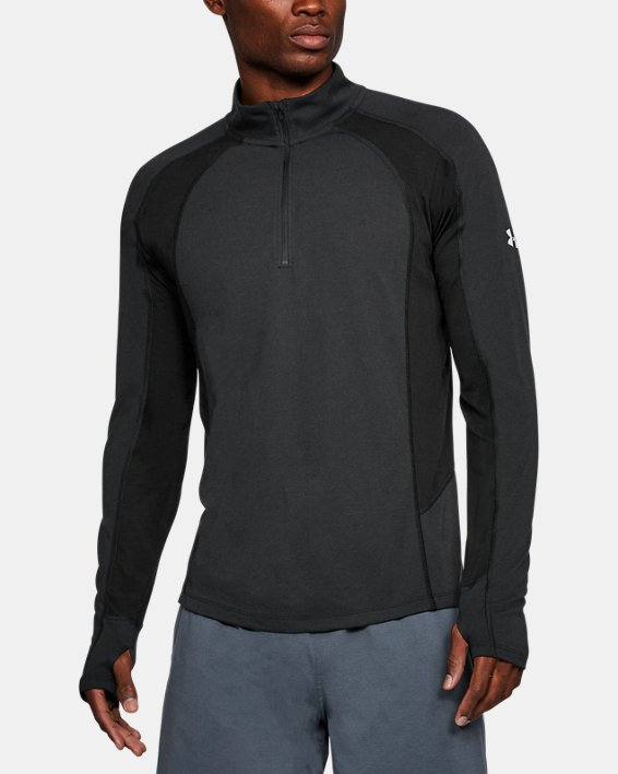 Maillot UA Swift ¼ Zip pour homme, Black, pdpMainDesktop image number 0