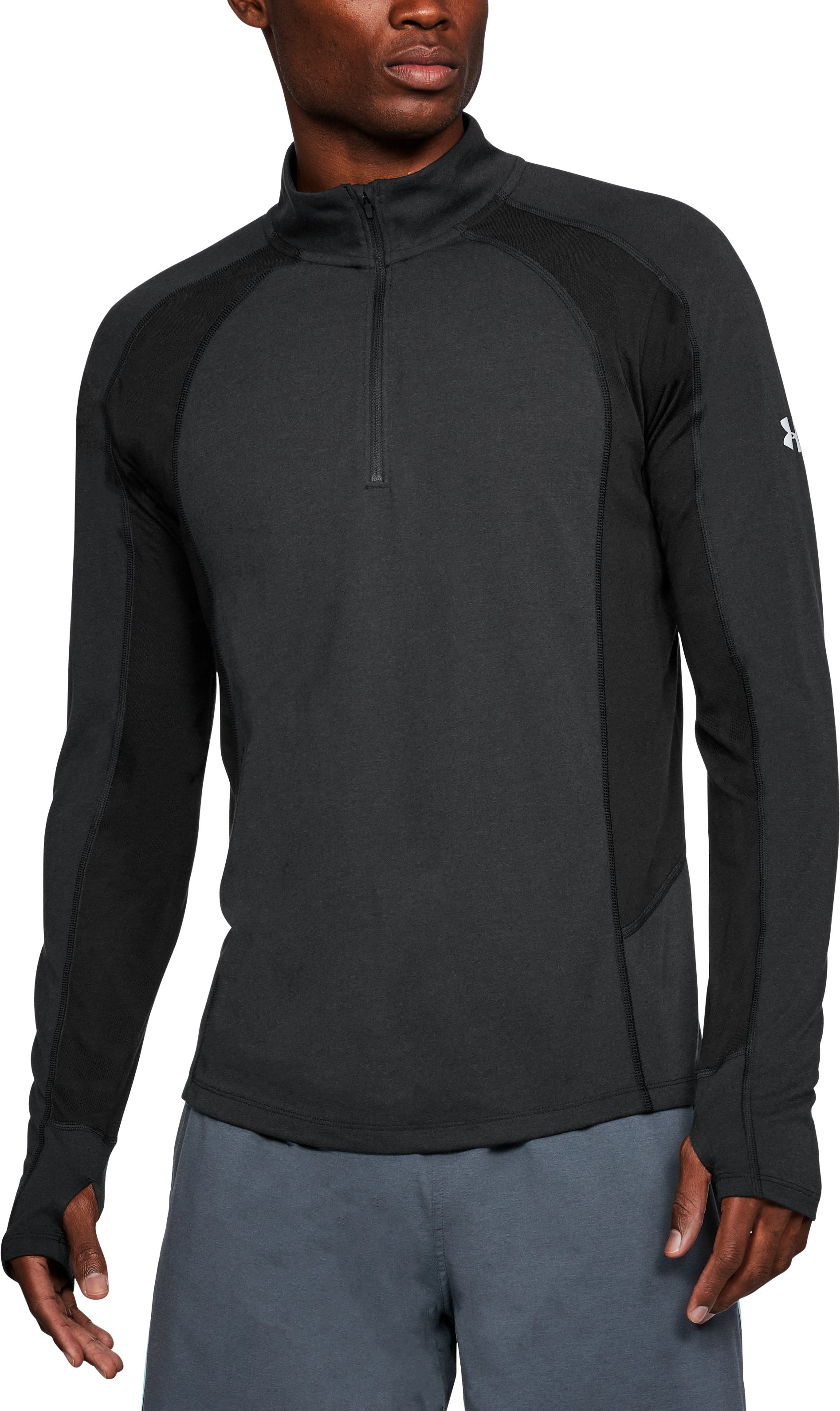 Men's UA Swyft ¼ Zip, Black ,