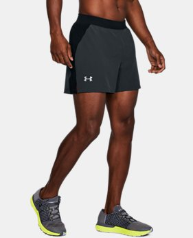 "Men's UA Speedpocket Swyft 5"" Shorts  3  Colors $50"