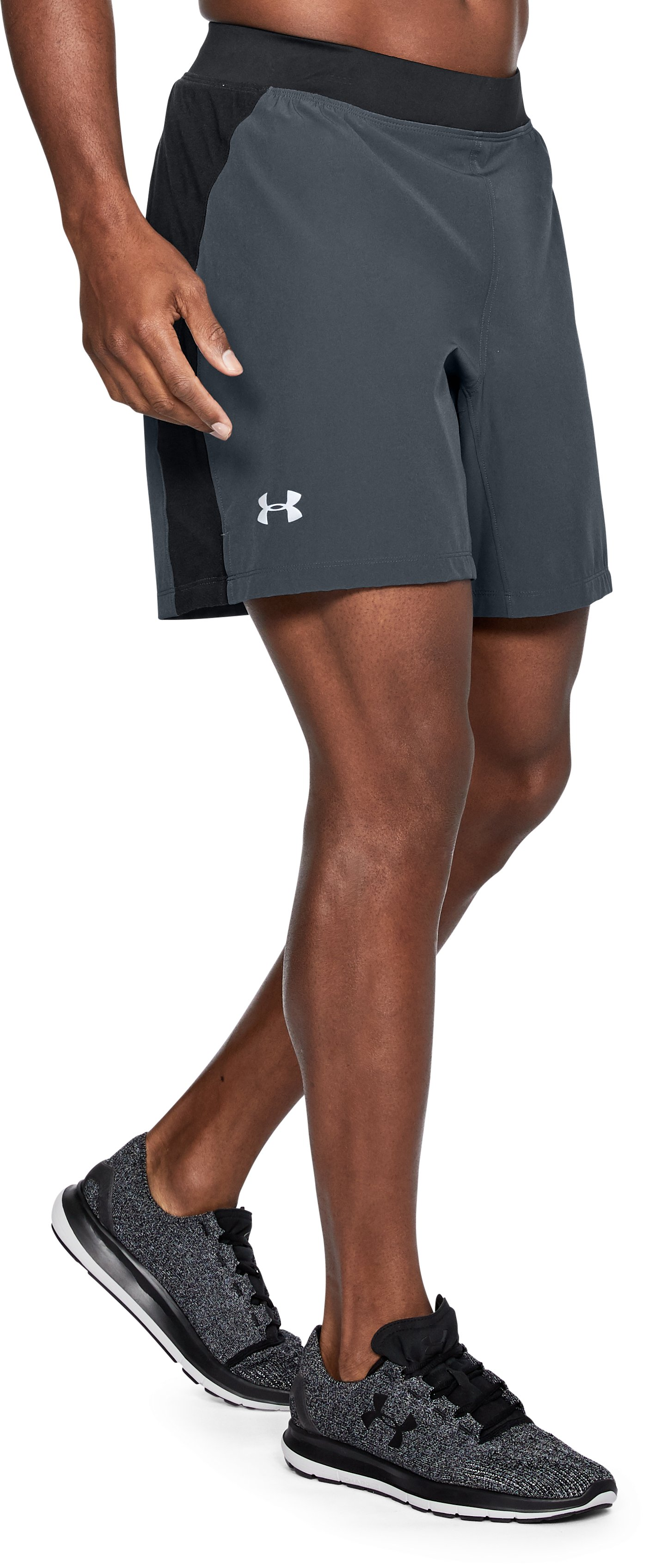 Men's UA Speedpocket Swyft 7'' Shorts, STEALTH GRAY