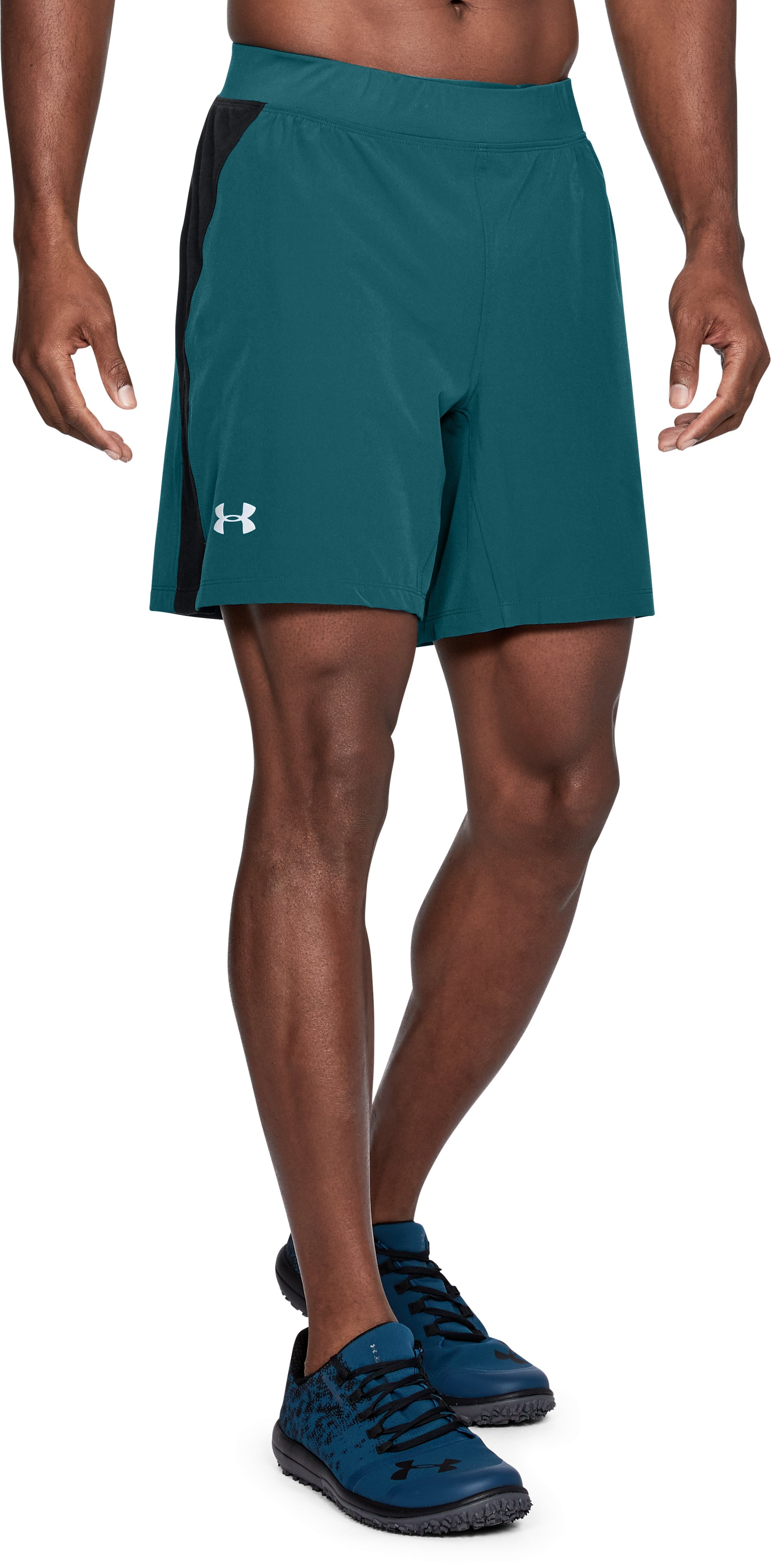 Men's UA Speedpocket Swyft 7'' Shorts, TOURMALINE TEAL
