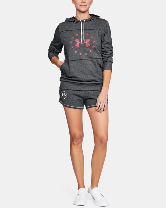 Women's UA Freedom Microthread Hoodie, Black, pdpMainDesktop image number 1