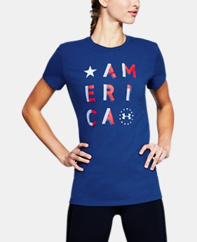 Women's UA Freedom America T-Shirt   $25