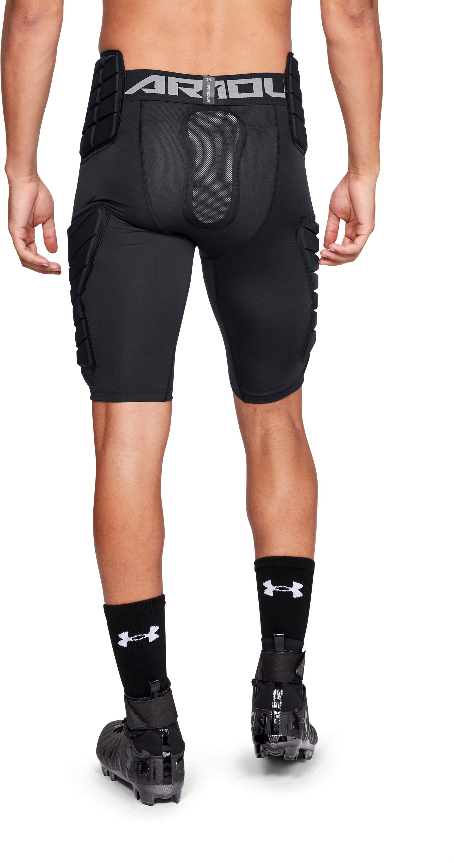 Men's UA Football Girdle 5 Pad, Black ,