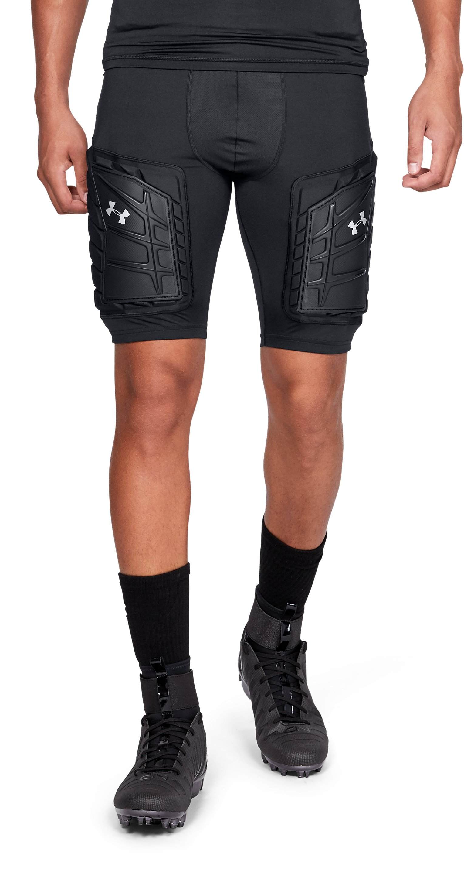 Men's UA Football Girdle 5 Pad, Black