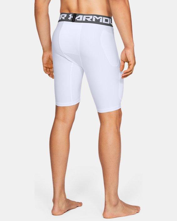 Men's UA Football 6-Pocket Girdle, White, pdpMainDesktop image number 2