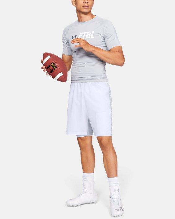 Men's UA Football 6-Pocket Girdle, White, pdpMainDesktop image number 1