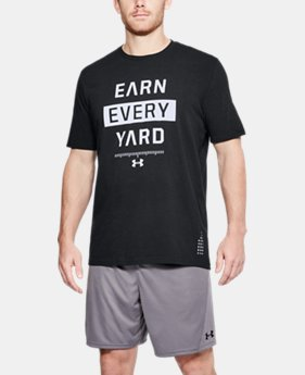 Men's UA Earn Every Yard T-Shirt  1 Color $25