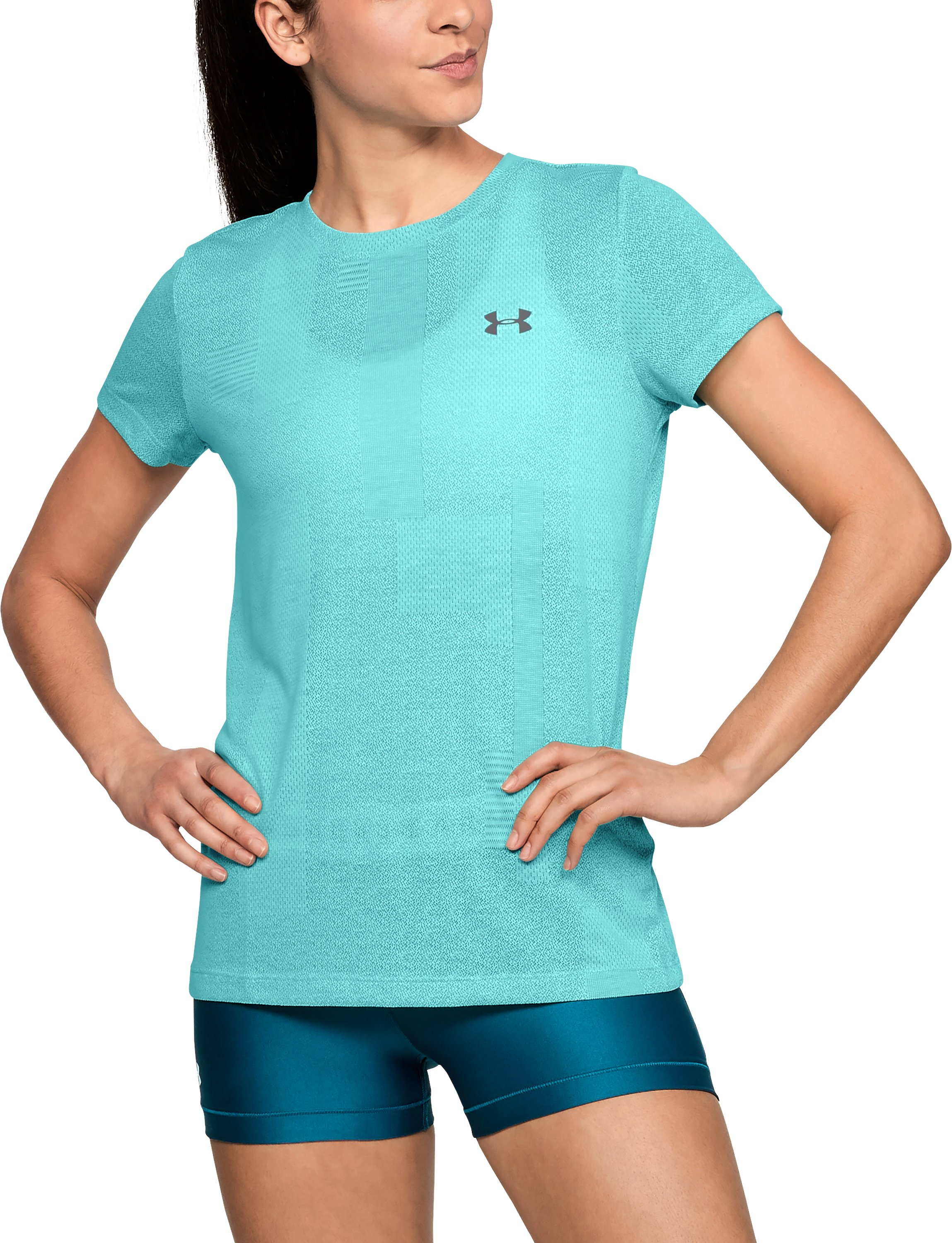 Women's UA Siro Jacquard Short Sleeve, TROPICAL TIDE