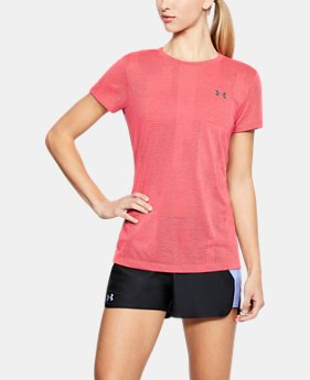 Women's UA Siro Jacquard Short Sleeve  1  Color Available $26.25