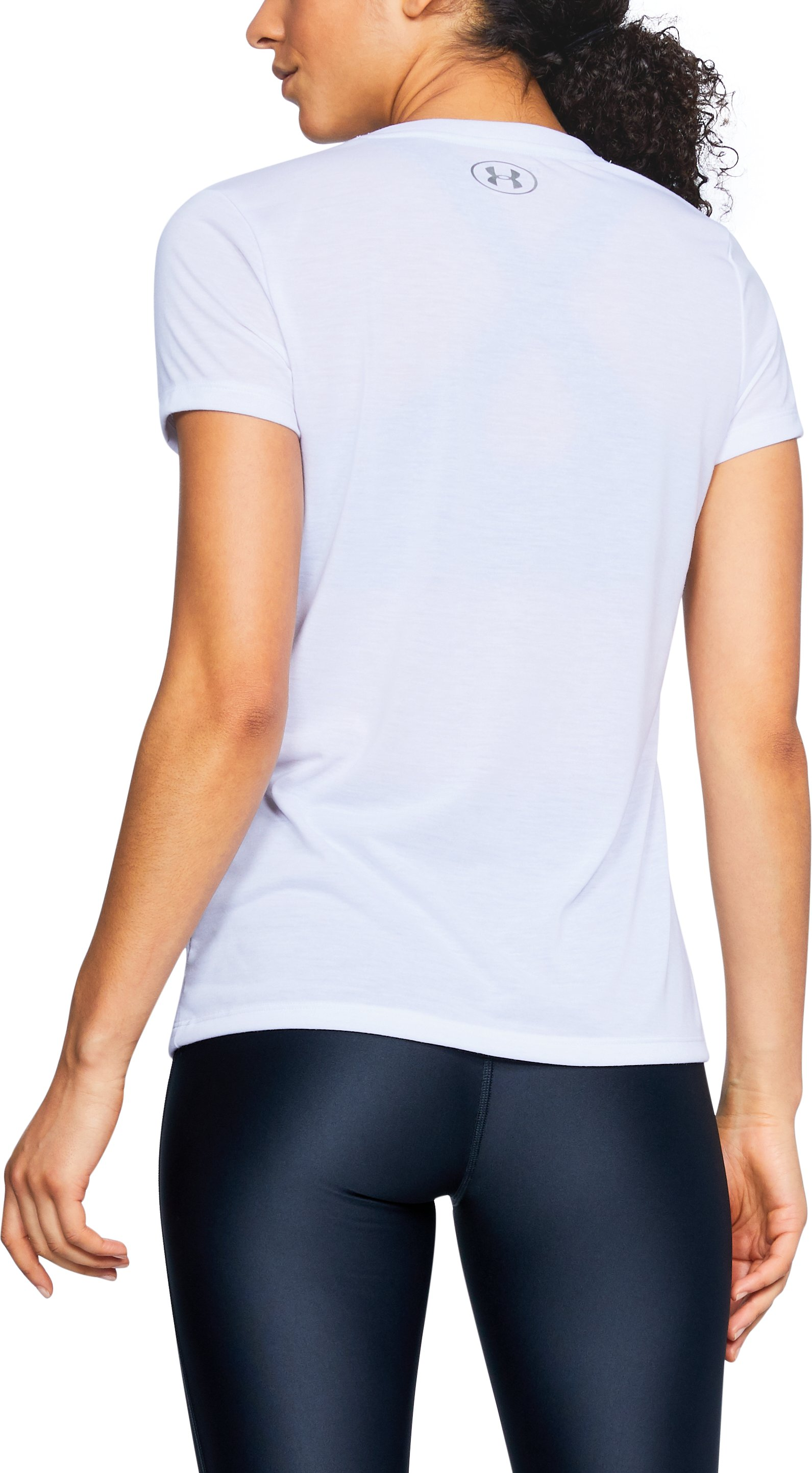 Women's UA Siro Graphic V-Neck, White,