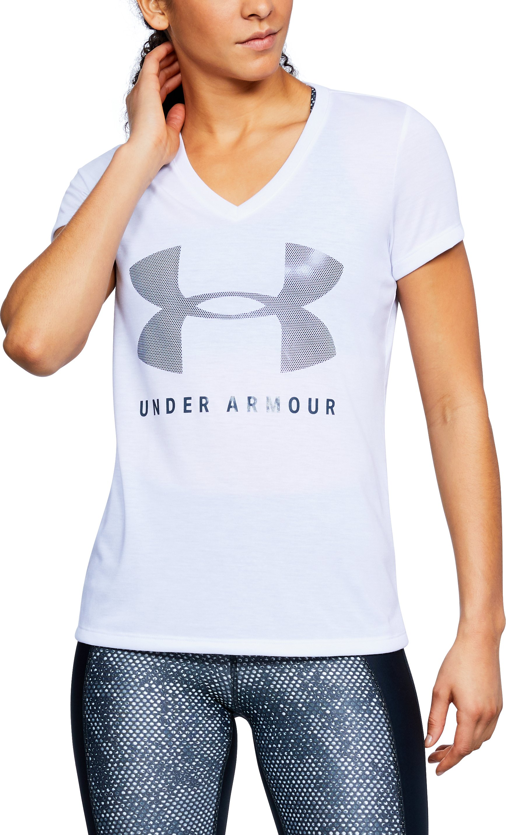 Women's UA Siro Graphic V-Neck 1 Color $16.50