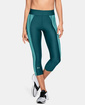 New Arrival Women's HeatGear® Armour Jacquard Capris  2 Colors $40