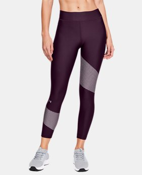 Women's HeatGear® Armour Graphic Ankle Crop  4  Colors $50
