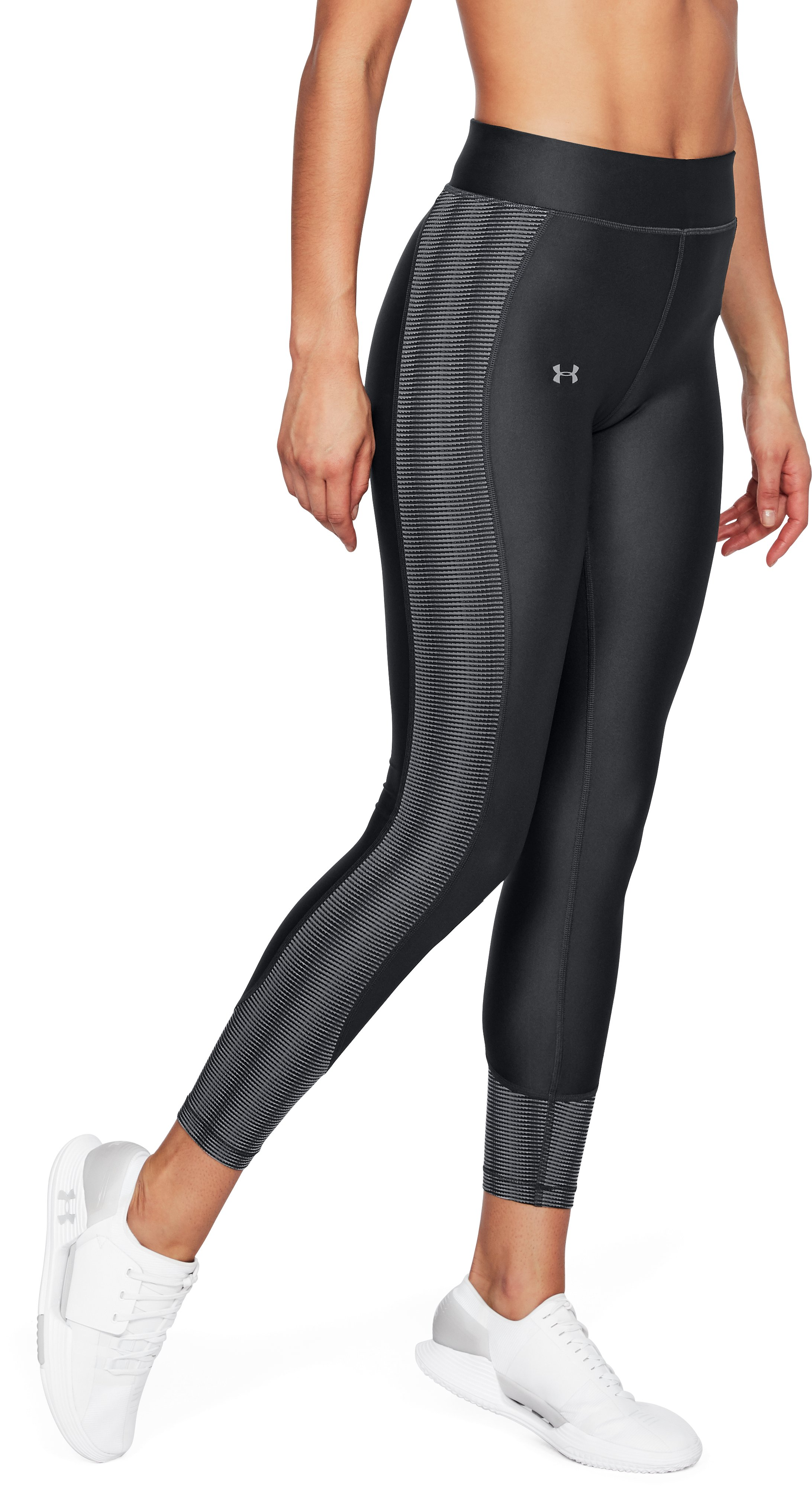Women's HeatGear® Armour Ankle Crop, ANTHRACITE,