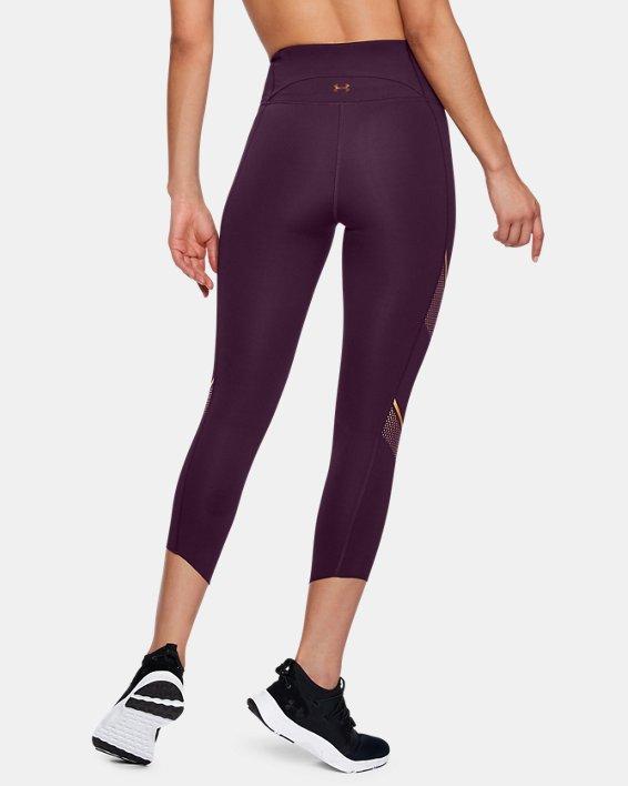 Women's UA Breathelux Metallic Crop, Purple, pdpMainDesktop image number 2
