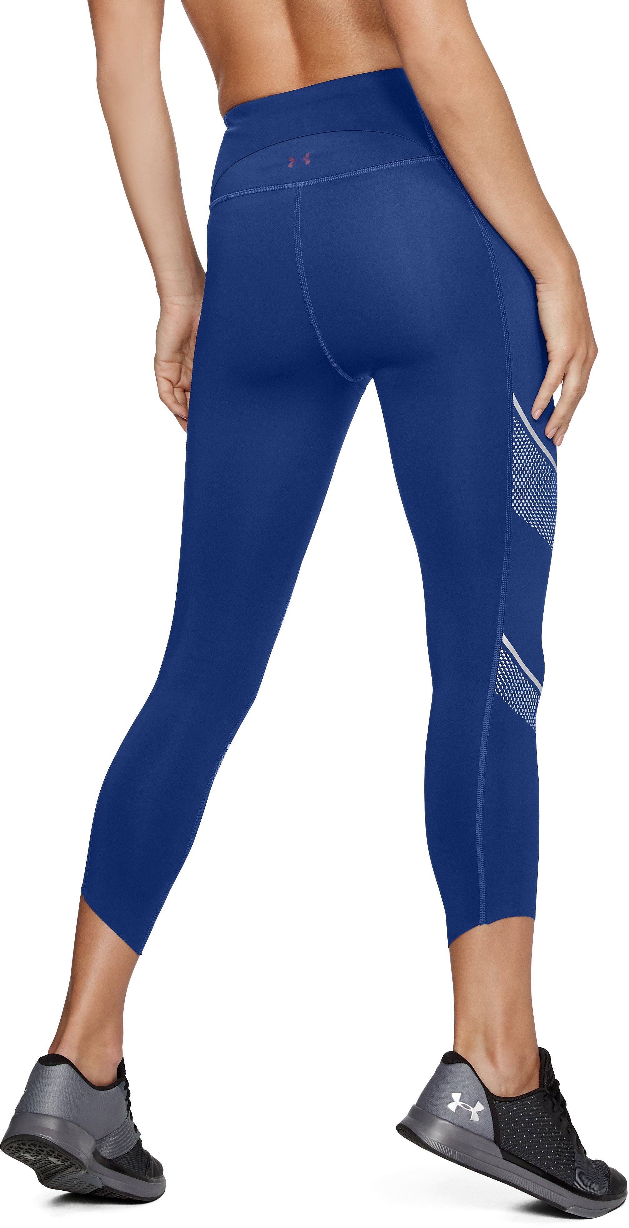 Women's UA Breathelux Metallic Crop, FORMATION BLUE,