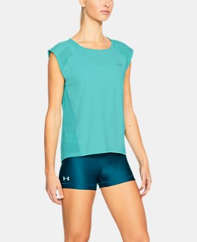 New Arrival Women's UA Armour Sport Cap Sleeve T-Shirt  3 Colors $40