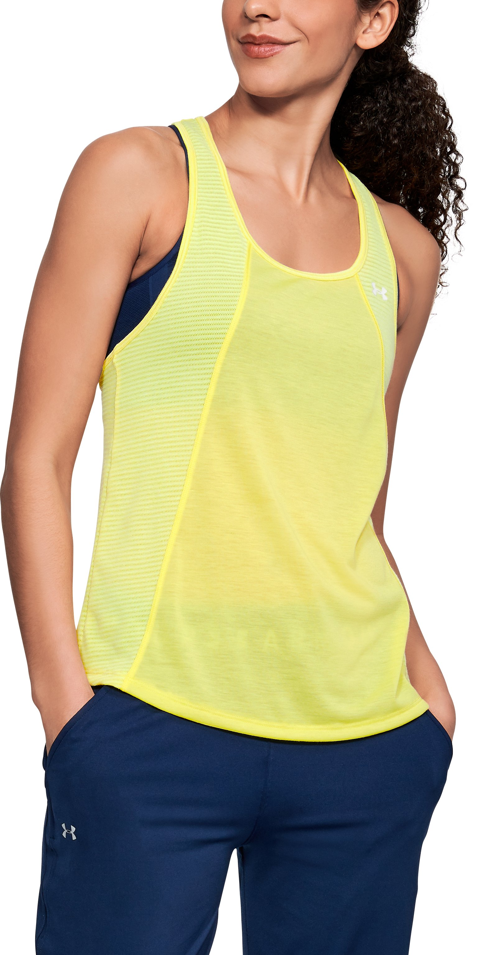 Women's UA Siro Fashion Tank, TOKYO LEMON FULL HEATHER
