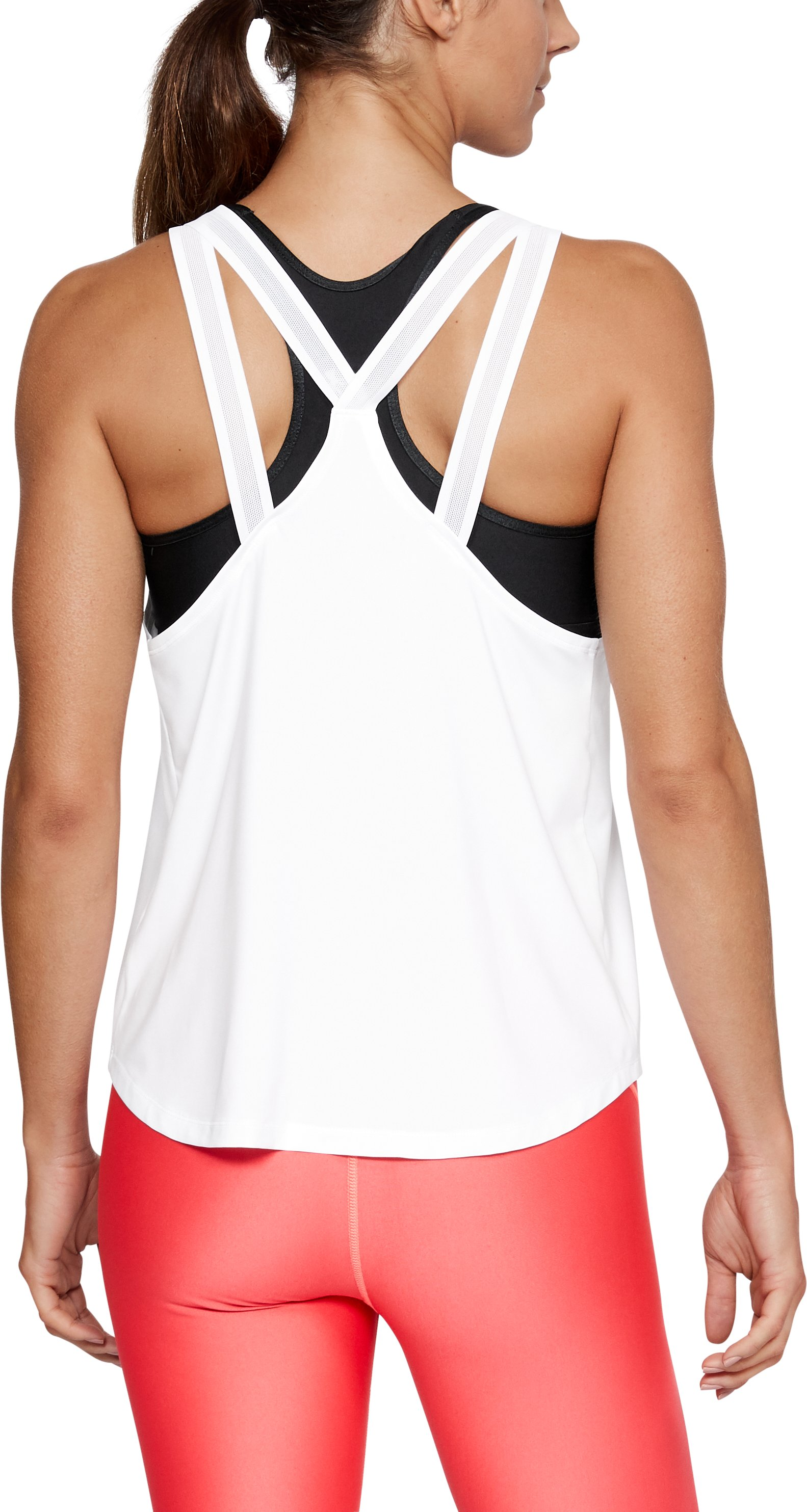 Women's UA Armour Sport Strappy Tank, White