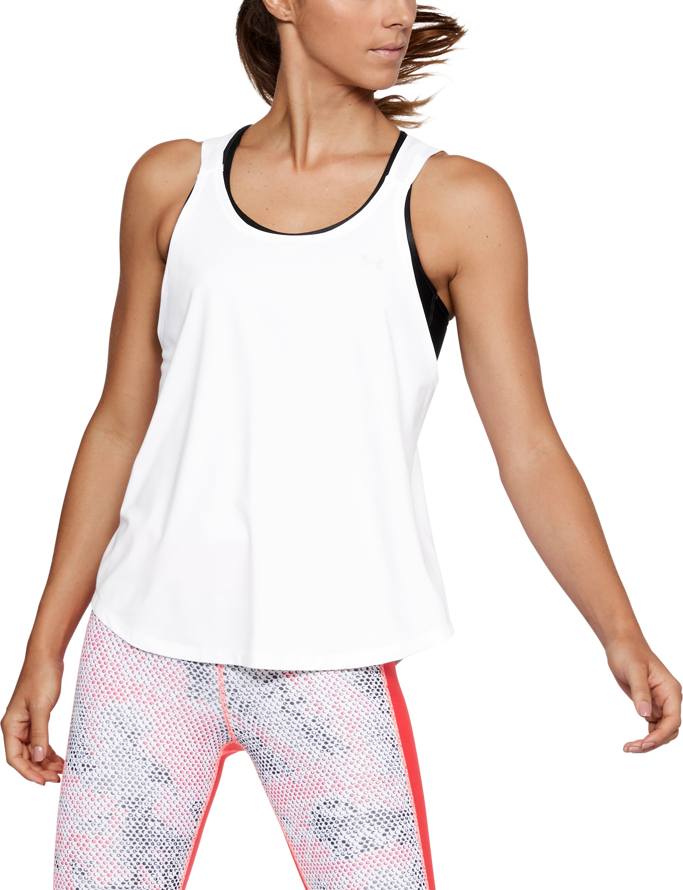 Women's UA Armour Sport Strappy Tank, White,