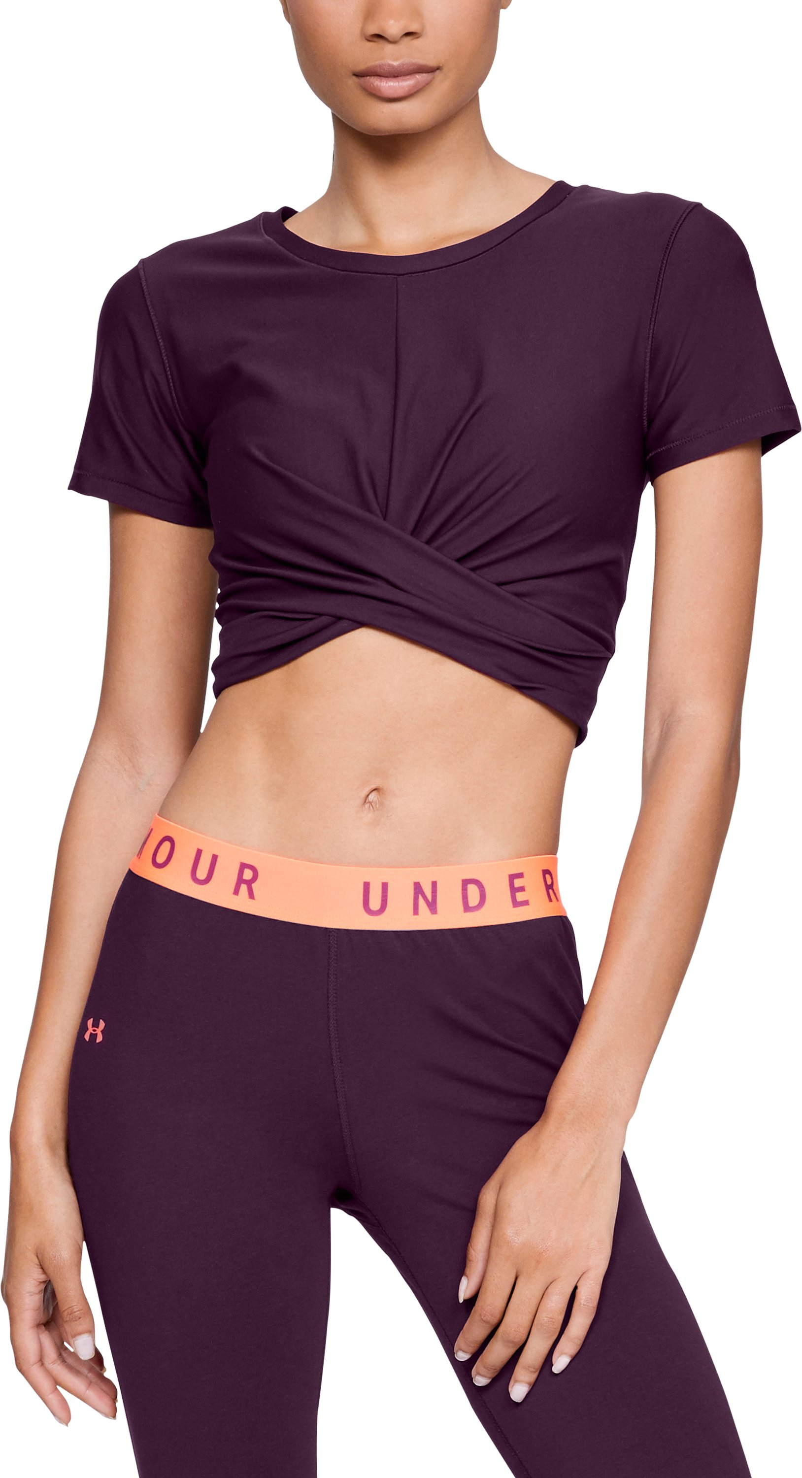 Women's UA Vanish Crop Tee, MERLOT,