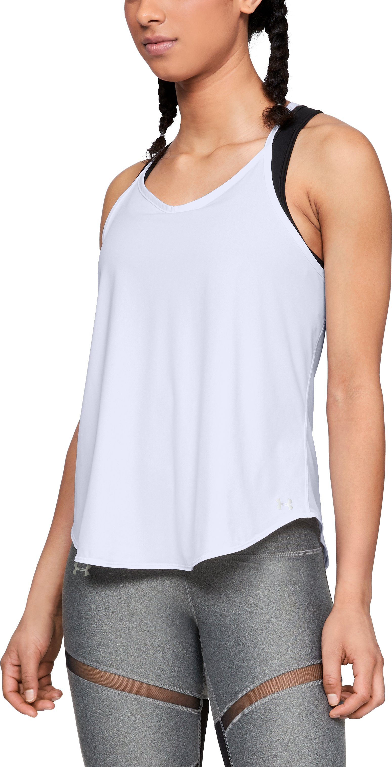 Women's UA Free Cut Strappy Tank, White,