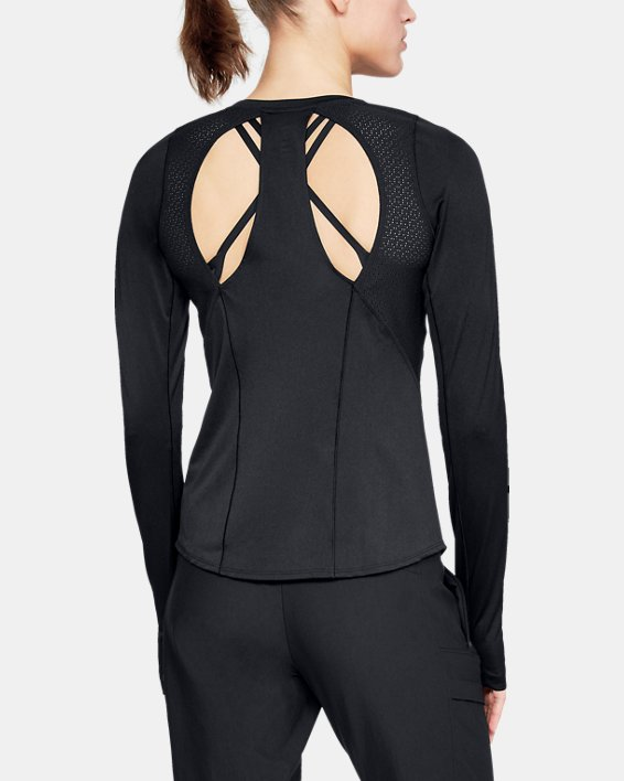 Women's UA Perpetual Long Sleeve, Black, pdpMainDesktop image number 2