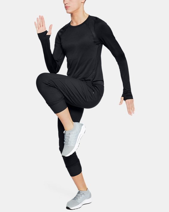 Women's UA Perpetual Long Sleeve, Black, pdpMainDesktop image number 0