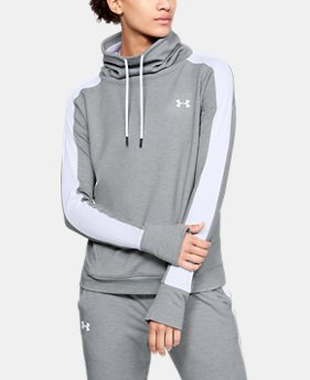 Women's UA Featherweight Fleece Funnel Neck  1  Color Available $60