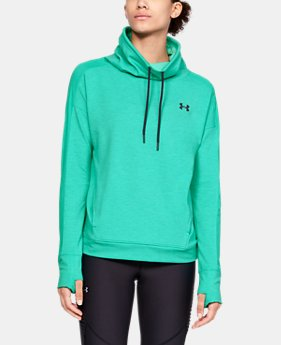 Women's UA Featherweight Fleece Funnel Neck  2  Colors Available $60