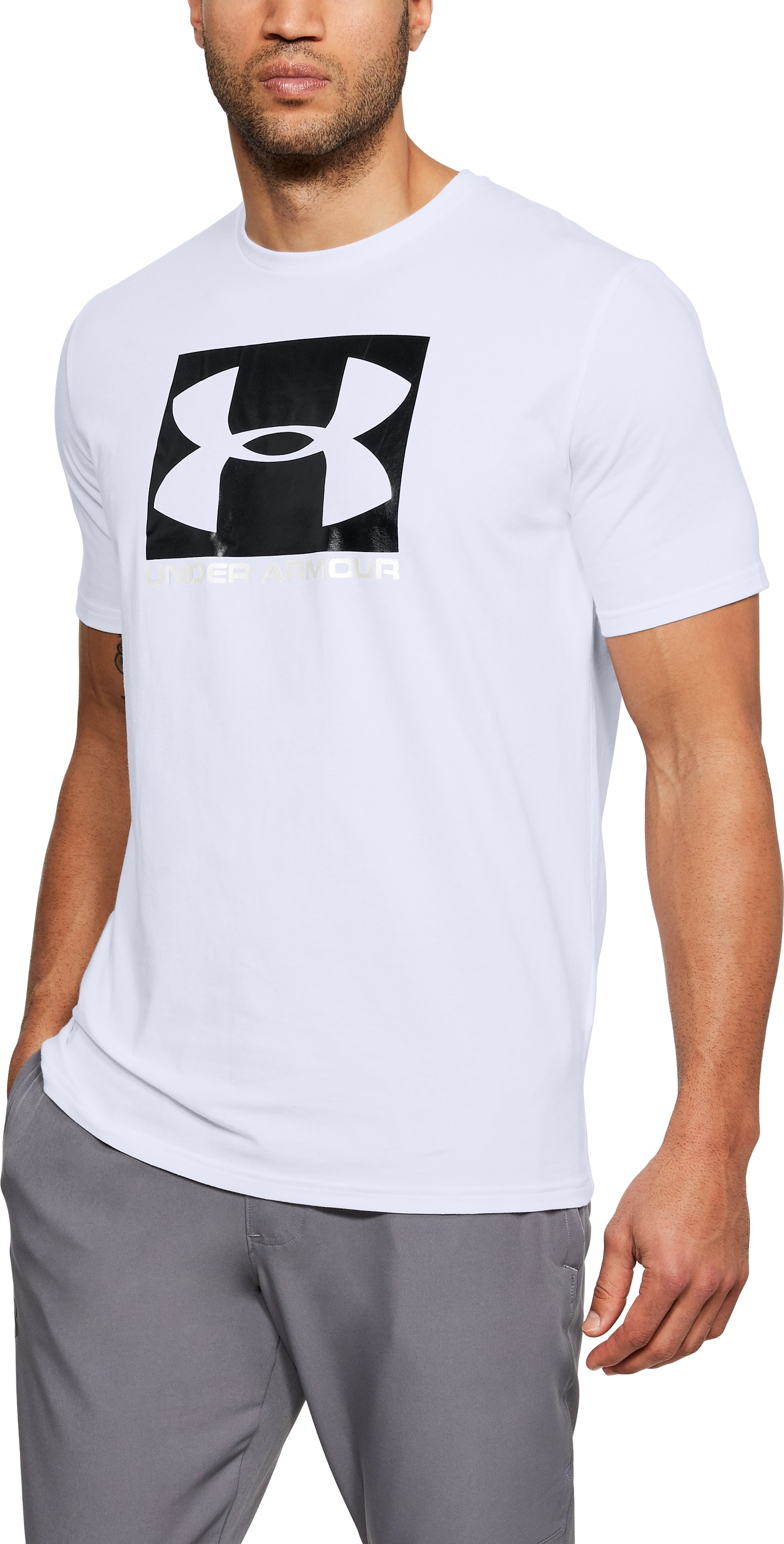 Men's UA Boxed Sportstyle T-Shirt, White
