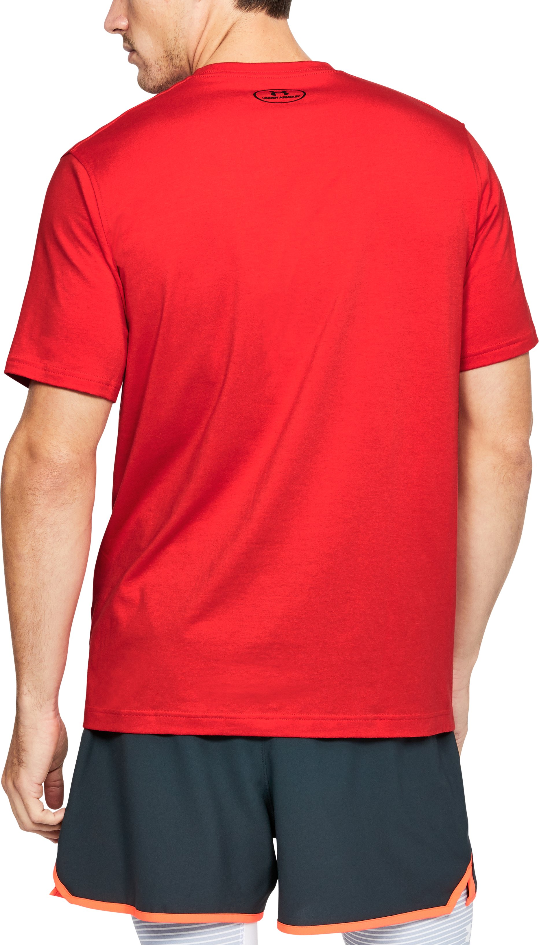 Men's UA Boxed Sportstyle T-Shirt, Red,