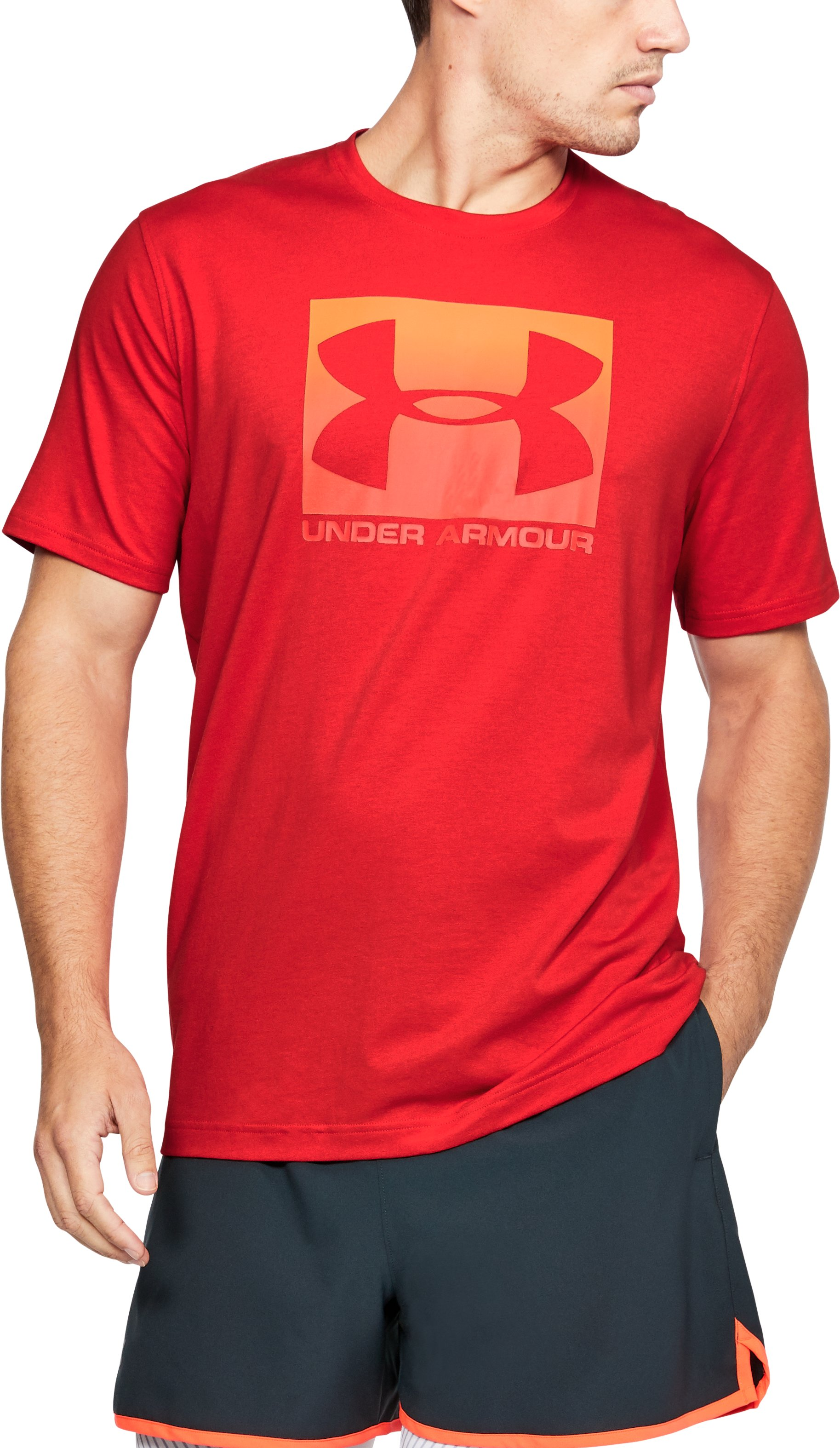 Men's UA Boxed Sportstyle T-Shirt, Red