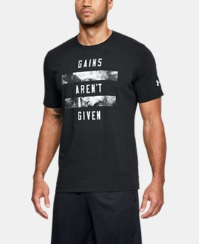 New Arrival  Men's UA Gains Aren't Given T-Shirt  1 Color $30