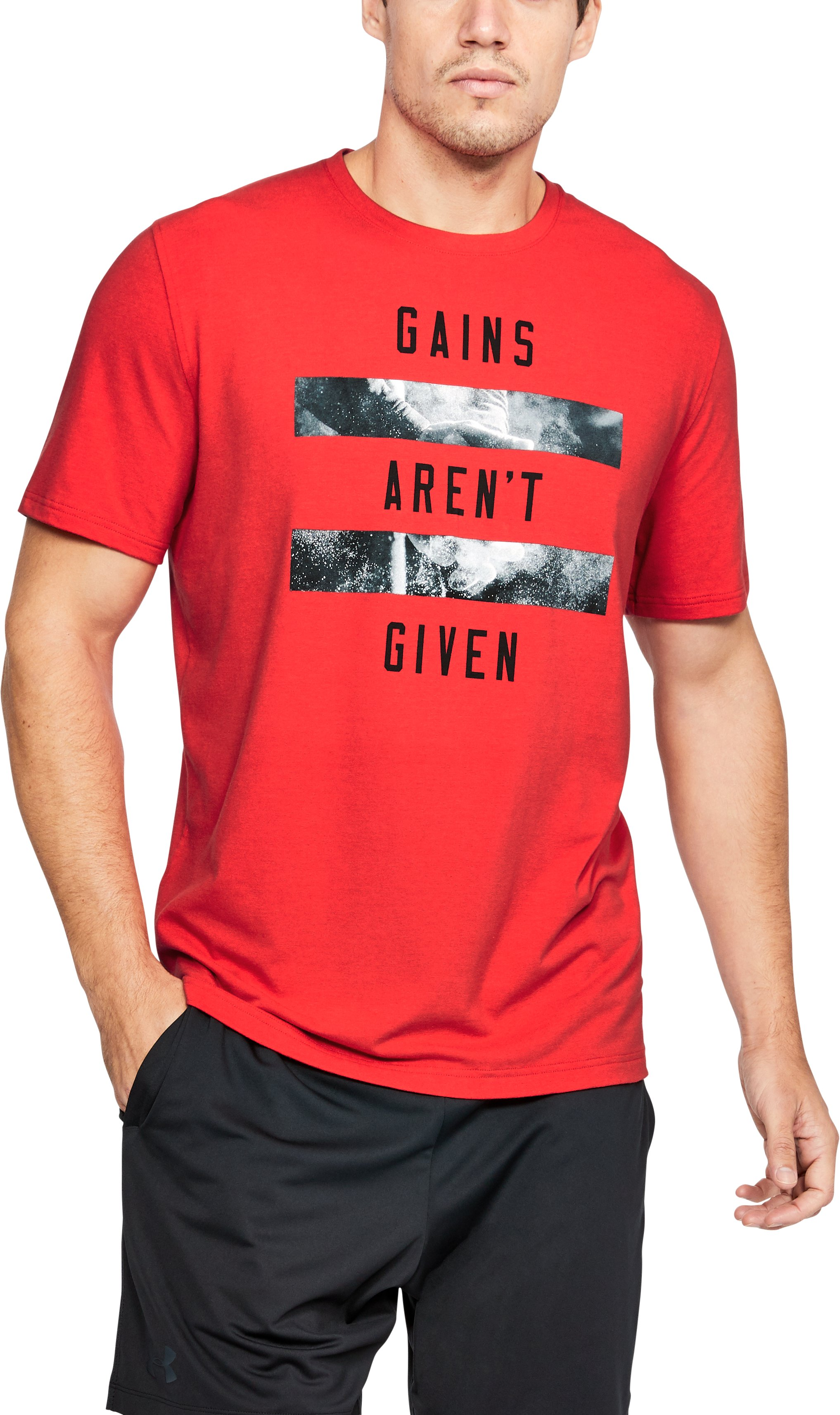 Men's UA Gains Aren't Given T-Shirt, Red