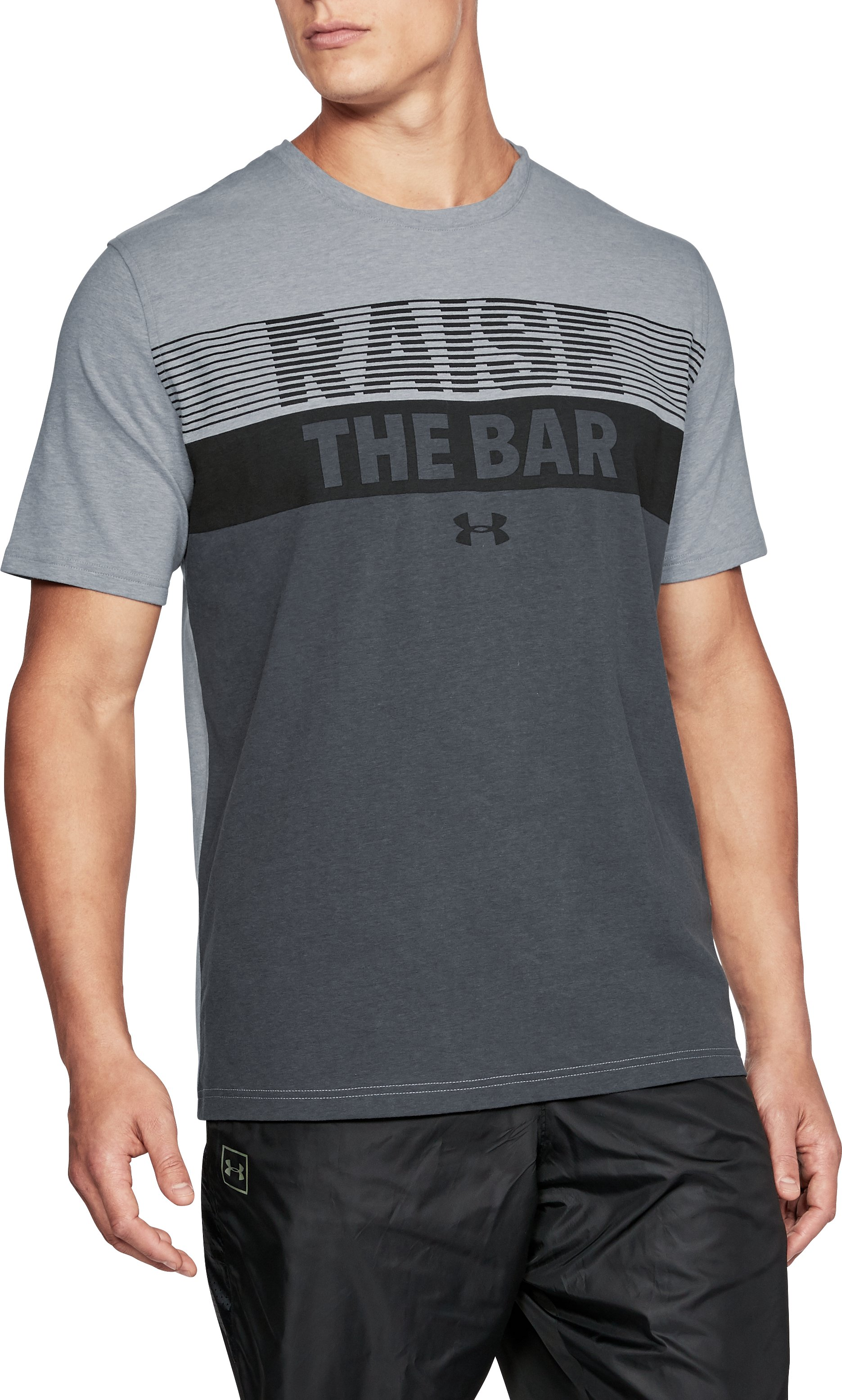 Men's UA Raise the Bar T-Shirt, STEEL LIGHT HEATHER