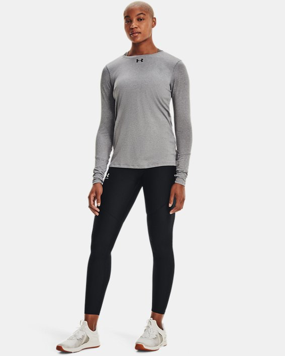 Women's UA Locker 2.0 Long Sleeve, Gray, pdpMainDesktop image number 1