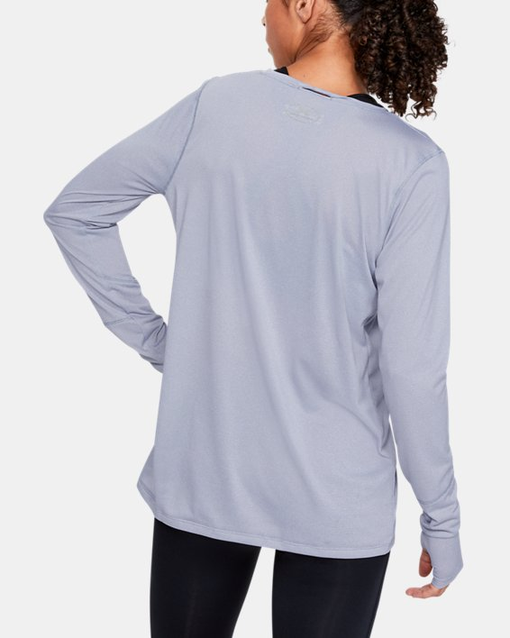 Women's UA Locker 2.0 Long Sleeve, Gray, pdpMainDesktop image number 2