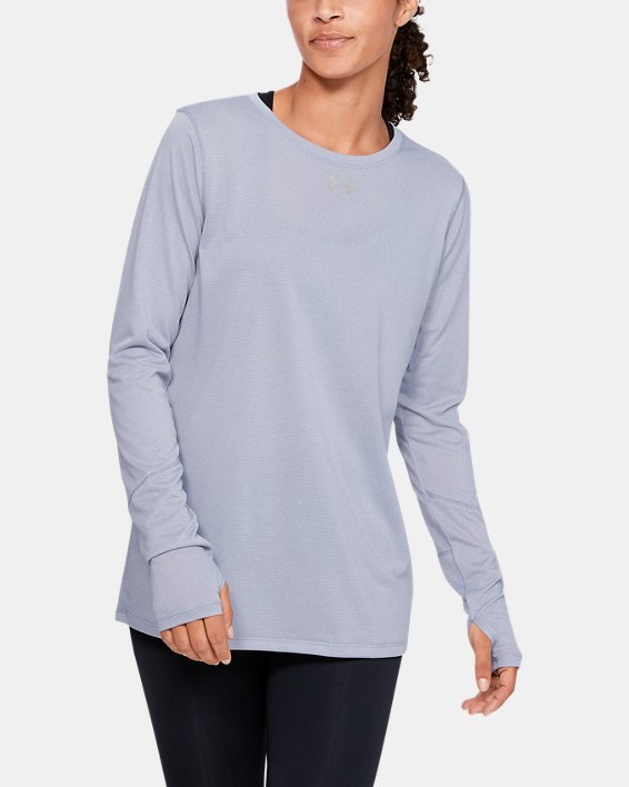 Women's UA Locker 2.0 Long Sleeve, Gray, pdpMainDesktop image number 0