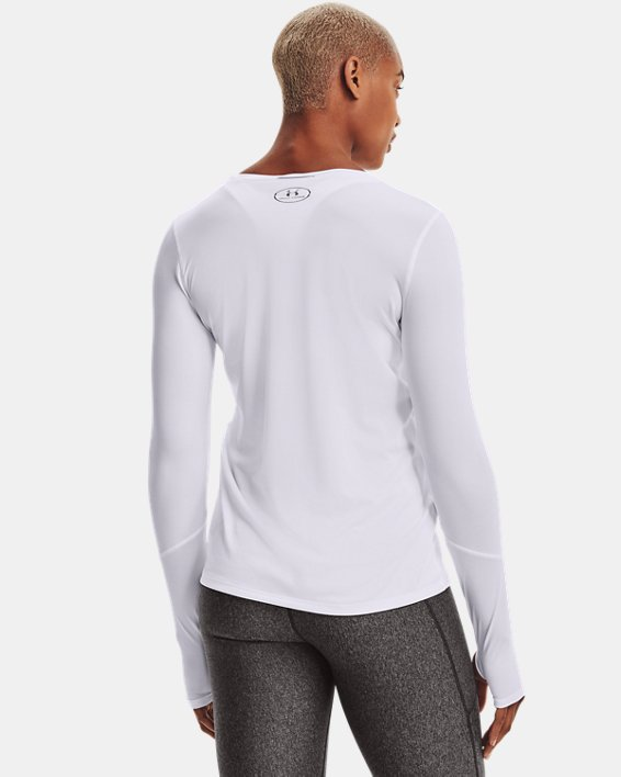 Women's UA Locker 2.0 Long Sleeve, White, pdpMainDesktop image number 2