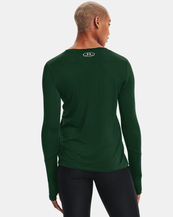 Women's UA Locker 2.0 Long Sleeve, Green, pdpMainDesktop image number 2